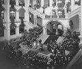 COLLECTIE TROPENMUSEUM Opening van het Koloniaal Instituut in Amsterdam, in de lichthal van het huidige Tropenmuseum en Koninklijk Instituut voor de Tropen, door H.M. Koningin Wilhelmina op 9 oktober 1926 TM-nr 10020669.tif
