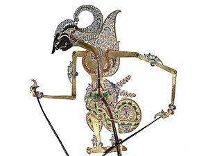 Iravan - Irawan as Gambiranom wayang kulit shadow puppet