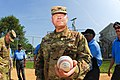 COL Ray Compton and CSM Snyder throw out the first pitch (36088375405).jpg