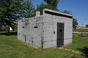 National Register of Historic Places listings in Crawford County, Missouri - Image: CUBA CITY JAIL, CRAWFORD COUNTY, MO