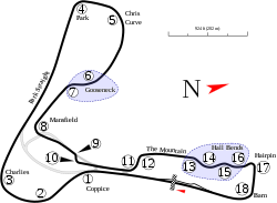 Cadwell Park track map.svg