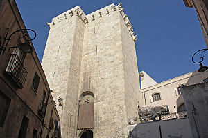 Torre dell'Elefante - The Tower seen from the gate side.