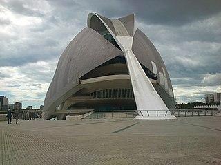 Palau de les Arts Reina Sofia opera house in Valencia, Spain