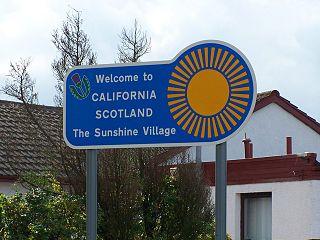 California, Falkirk village in United Kingdom