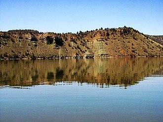Prineville Reservoir - Image: Calm Water and Reflection on Prineville Reservoir (451712417)