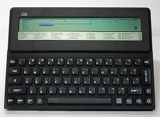 Cambridge Z88 - The Z88 used an 8-line LCD display
