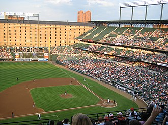 Baseball park - Camden Yards started the nostalgic craze with a smaller, redbrick and forest-green stadium.