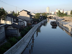 History of transport in China - A canal in Jiading, Shanghai