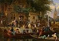 Canal-boat in front of the tavern 'Het wapen van Utrecht' by Valentijn Bing.jpg
