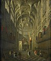 Canaletto - The Interior of Henry VII's Chapel, Westminster Abbey, London COL MOL A20964.jpg