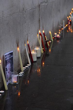 Death of Leelah Alcorn - Image: Candles for Leelah Alcorn