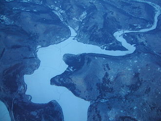 Cannonsville Reservoir - Image: Cannonsville Reservoir from the air
