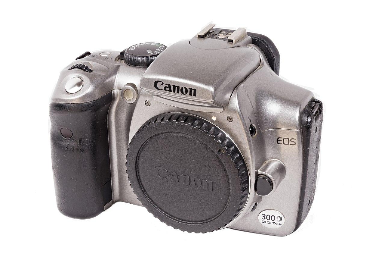 File:Canon EOS 300D, Front, 1803181552, ako.jpg