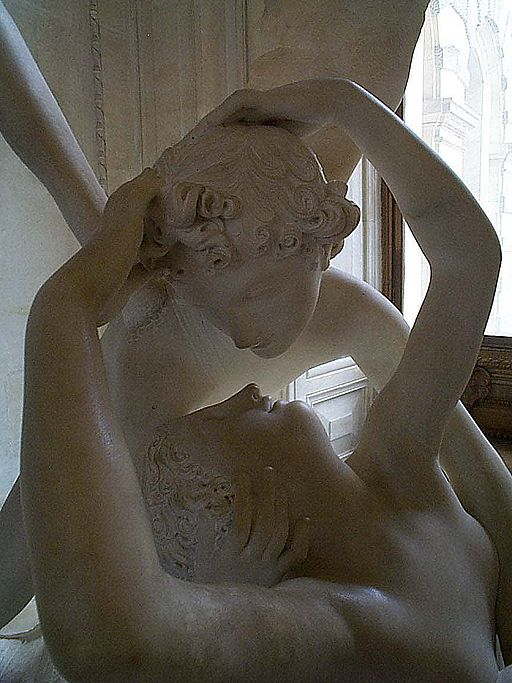 Canova-Psyche Revived By Cupids Kiss detail arm framing