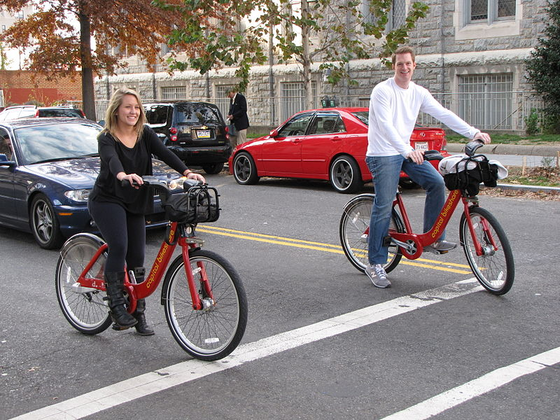 File:Capital Bikeshare riders in Dupont Circle.jpg