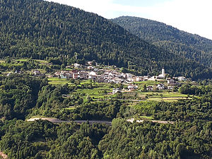 Capriana - the town of Capriana in spring