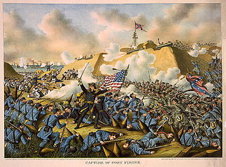 Second Battle of Fort Fisher - Capture of Fort Fisher by Kurz and Allison, 1890