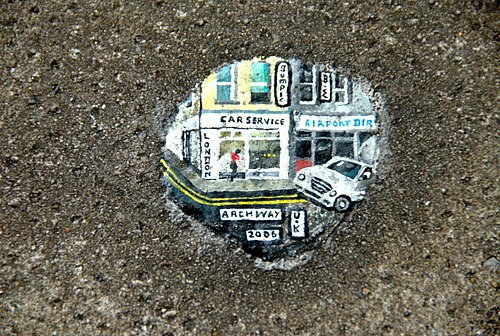 Chewing gum painted by Ben Wilson