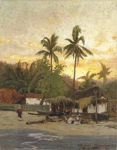 Carl Saltzmann - View of Acapulco, 1879