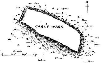 Carl Wark - 1903 plan of Carl Wark
