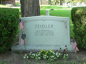 Carl Zeidler - Gravesite cenotaph in Forest Home Cemetery