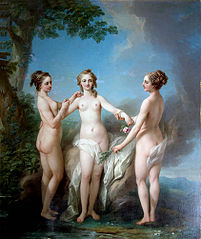 The Three Graces, traditionally assumed to be de Nesle Mesdemoiselles