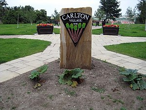 Rhubarb Triangle - Carlton village sign celebrates its link with rhubarb