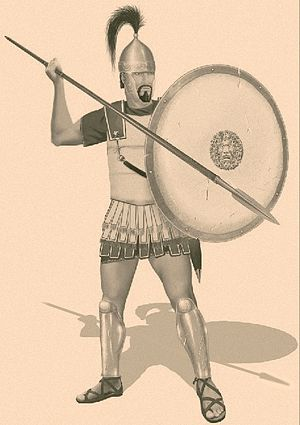 Carthaginian hoplite (Sacred Band, end of the 4th century BC) Carthaginian hoplite - Oplita cartaginese.JPG