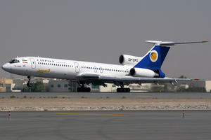 Caspian Airlines - A Caspian Airlines Tupolev Tu-154M at Dubai International Airport in 2011