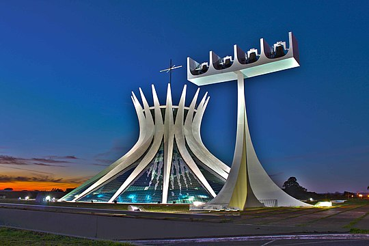 Cathedral of Brasília, Brazil.