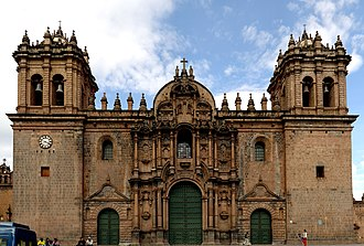 Religion in Peru - The Cathedral Basilica of the Assumption of the Virgin in Cusco is World Heritage Site.