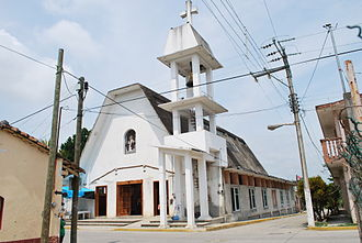 Cazones de Herrera - Parish church in the municipal seat