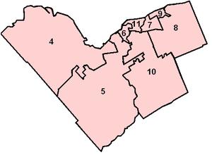 Ottawa municipal election, 2010 - Zone map