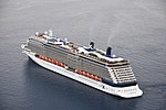 Celebrity Reflection cruise ship in Santorini, Greece 001.jpg
