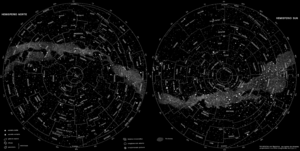 Mapa Estelar Hemisferio Norte.Mapa Estelar