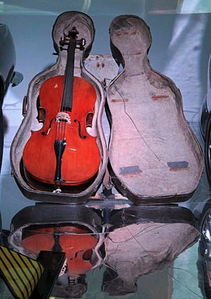 The Living Daylights - Cello Case Sled in National Motor Museum, Beaulieu.