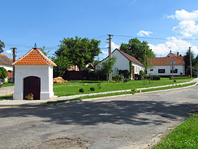 Center of Bačice, Třebíč District.JPG