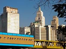 bloque de viviendas en la zona central de so paulo brasil
