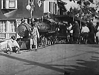 Venice Miniature Railway - Image: Century Comedy Kids using the Venice Miniature Railway