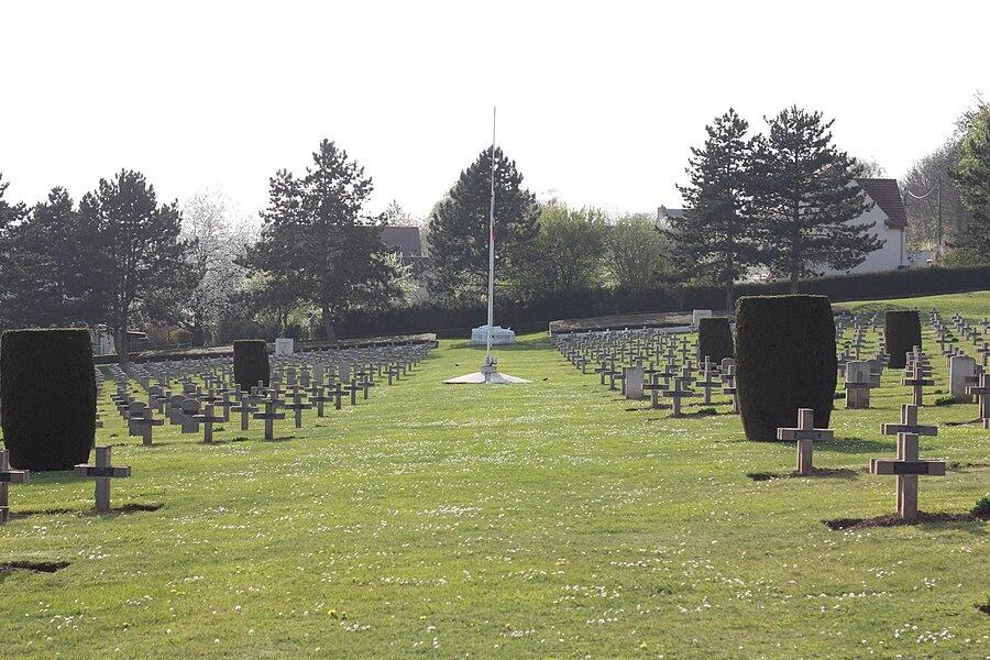 """Nécropole nationale (national restplace) """"Chesnaux"""", Château-Thierry, Aisne, France"""