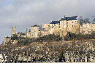 Château de Chinon castle in France