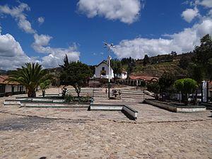 Chíquiza - Central square Chíquiza