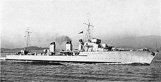 Battle of Réunion - A Chacal class destroyer similar to Léopard