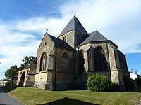 Charbogne (Ardennes) église Saint-Rémi, chevet.JPG