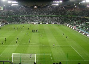 Polish Army Stadium - Żyleta filled with fans during a charity match between Legia and ADO Den Haag