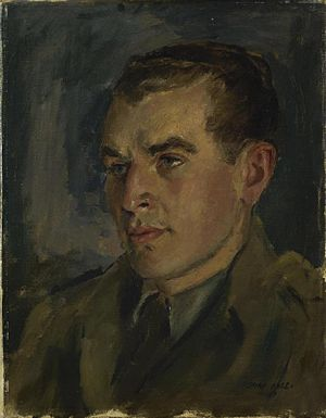 Charles Collingwood (journalist) - 1943 portrait of war correspondent Charles Collingwood (Henry Carr)