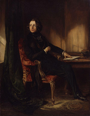 Victorian painting - Charles Dickens by Daniel Maclise (1839). Dickens's focus on reflecting the reality of modern life was highly influential on British artists.