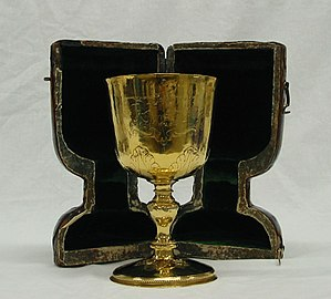 Mansion House, York - Charles II gold cup made by Marmaduke Best, York, c. 1672 and engraved with the arms of Marmaduke Rawdon
