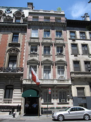 66th Street (Manhattan) - Charles Scribner House on 9 East 66th, houses the Polish Permanent Mission to the United Nations