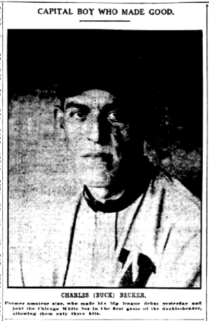 Charlie Becker (baseball) - Image: Charlie Becker newspaper